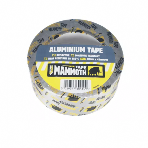 Everbuild 2ALUM50 Aluminium Foil Tape 50mm x 45m